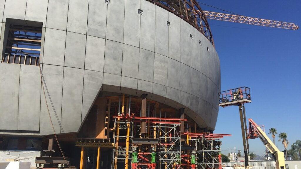Academy Museum construction