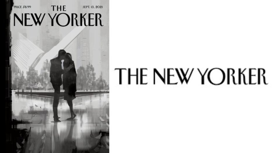 new yorker cover and logo