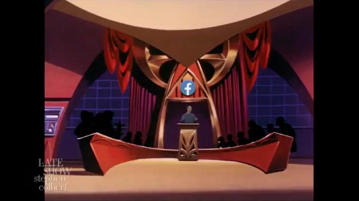 The Late Show Facebook Legion of Doom
