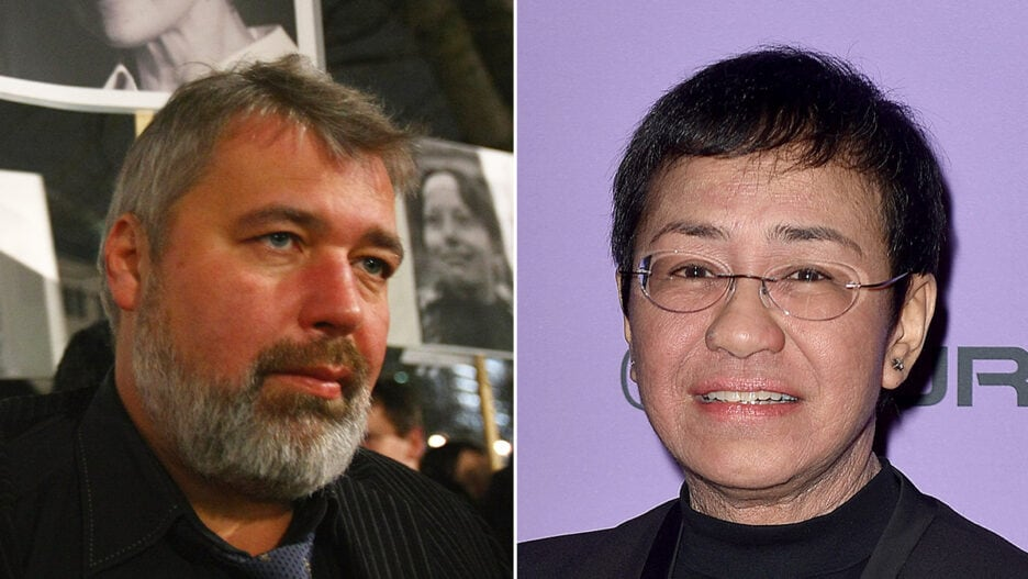 Maria Ressa and Dmitry Andreyevich Muratov nobel peace prize